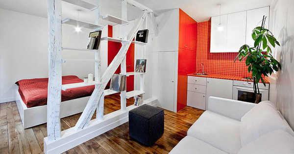 Muốn thiết kế căn hộ nhỏ thành nơi ở ai cũng thèm thuồng thì hãy tham khảo 10 căn hộ tuyệt vời này