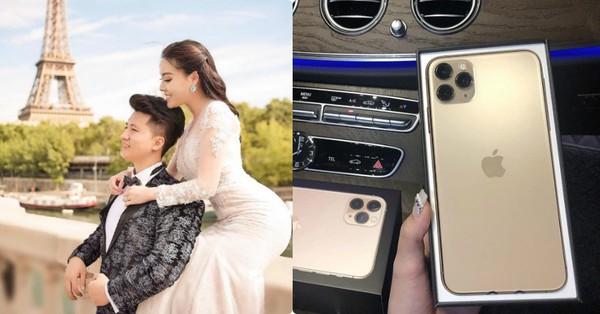 Hết tăng 10kg, nữ giảng viên Âu Hà My lại khoe Iphone 11 Pro Max mới ''sốt sình sịch'' chồng tặng và tiết lộ về chồng doanh nhân