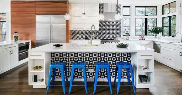 Những ý tưởng lát sàn, ốp tường cho nhà bếp thêm độc đáo có thể bạn chưa nghĩ tới