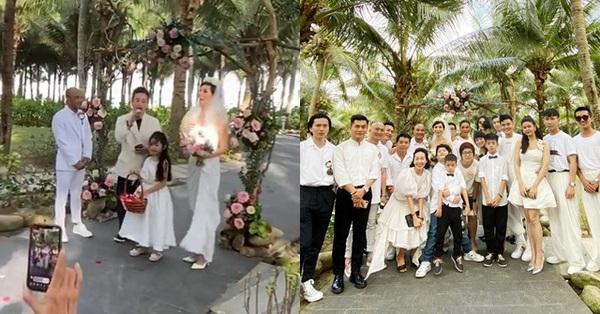 Con gái Xuân Lan xuất hiện như thiên thần trong đám cưới mẹ, lại còn có thêm nhân vật đặc biệt nhà Tim - Trương Quỳnh Anh tham dự