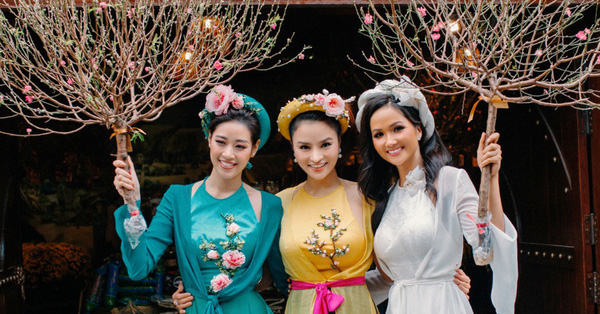 Hoa hậu H'Hen Niê, Khánh Vân cùng dàn mỹ nhân Việt diện áo tứ thân dự tiệc Xuân của Vũ Thu Phương