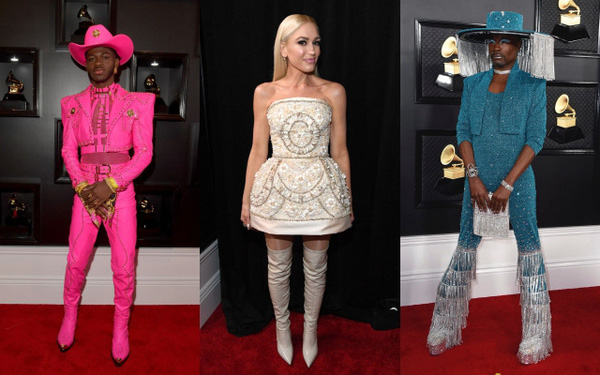 Những bộ cánh đỉnh nhất Grammy 2020 gọi tên váy công chúa của Ariana Grande lẫn set cô đào năm 90 của Dua Lipa
