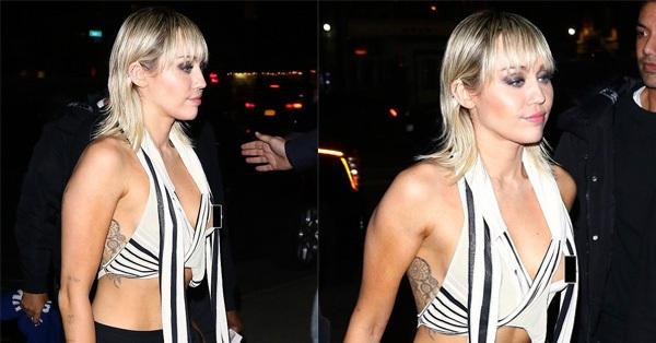 Hậu ly hôn, Miley Cyrus tiếp tục trở thành trung tâm của sự chú ý khi để lộ vòng 1 trước vô vàn ống kính
