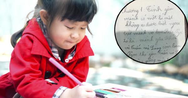 Bí mật tình yêu của cô bé tiểu học khiến ai nấy cười ra nước mắt: