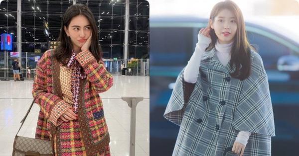 Mai Davika và cô em quốc dân IU lên đồ cả trăm triệu chỉ để ra sân bay trước show Gucci