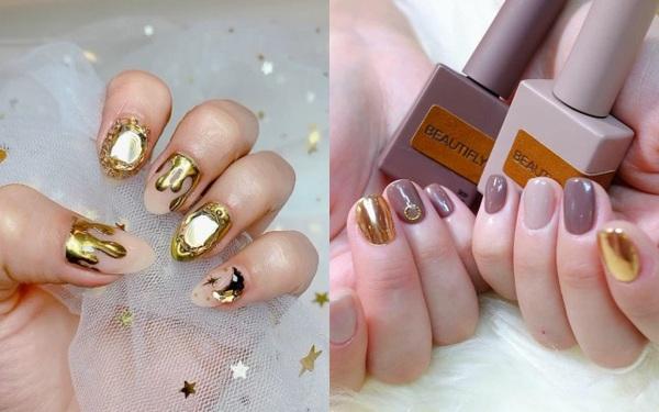 Tham khảo 20 mẫu nails mạ vàng cực đẹp và sang đang rất hot tại Hàn Quốc