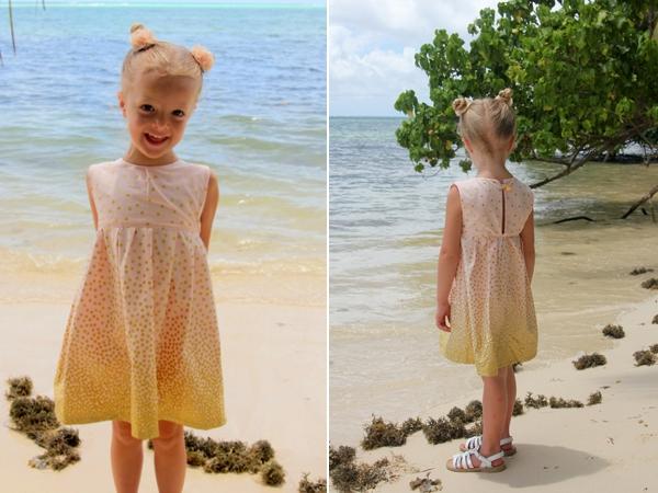 May váy liền cho bé