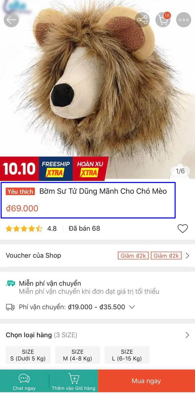 """Bỏ 69k đặt mua """"bờm sư tử dũng mãnh"""" cho pet, khách hoảng hồn khi nhận sản phẩm về tay như đạo cụ phim kinh dị - Ảnh 1."""