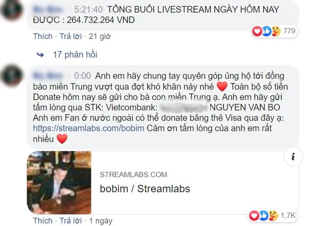 """Nam streamer 9x gửi toàn bộ 270 triệu được fan donate để ủng hộ đồng bào miền Trung: """"Em livestream gần 1 năm không lương hôm nay em sẽ dành tiền donate của anh em để gửi tới đồng bào miền Trung"""" - Ảnh 6."""