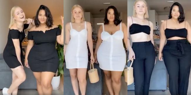 Lên đồ giống nhau, hai cô nàng này minh chứng cho việc vóc dáng không phải thứ quyết định sự xấu đẹp của bộ đồ - Ảnh 1.