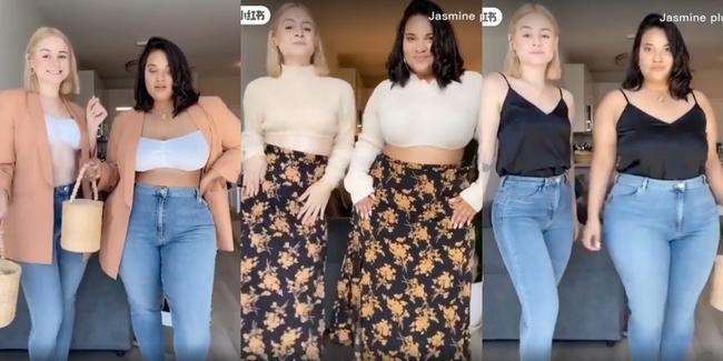 Lên đồ giống nhau, hai cô nàng này minh chứng cho việc vóc dáng không phải thứ quyết định sự xấu đẹp của bộ đồ - Ảnh 2.