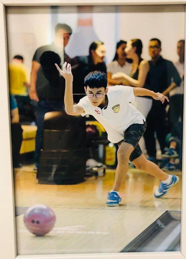 15 tuổi cao 1m80, con trai diễn viên Huy Khánh chơi chục môn thể thao nhưng nhìn chế độ dinh dưỡng mới khủng - Ảnh 5.