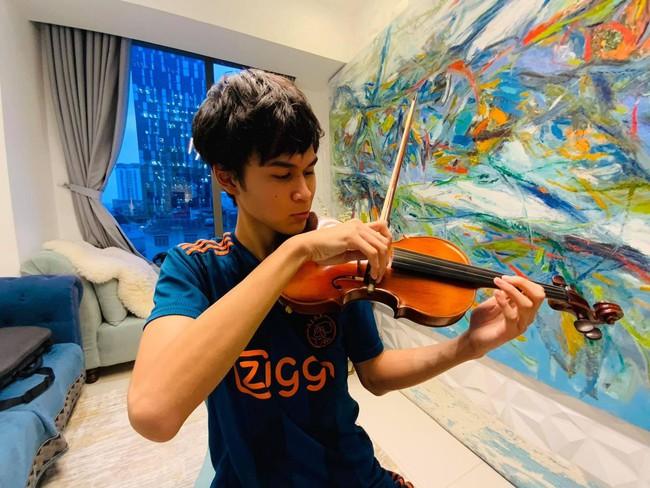 15 tuổi cao 1m80, con trai diễn viên Huy Khánh chơi chục môn thể thao nhưng nhìn chế độ dinh dưỡng mới khủng - Ảnh 10.