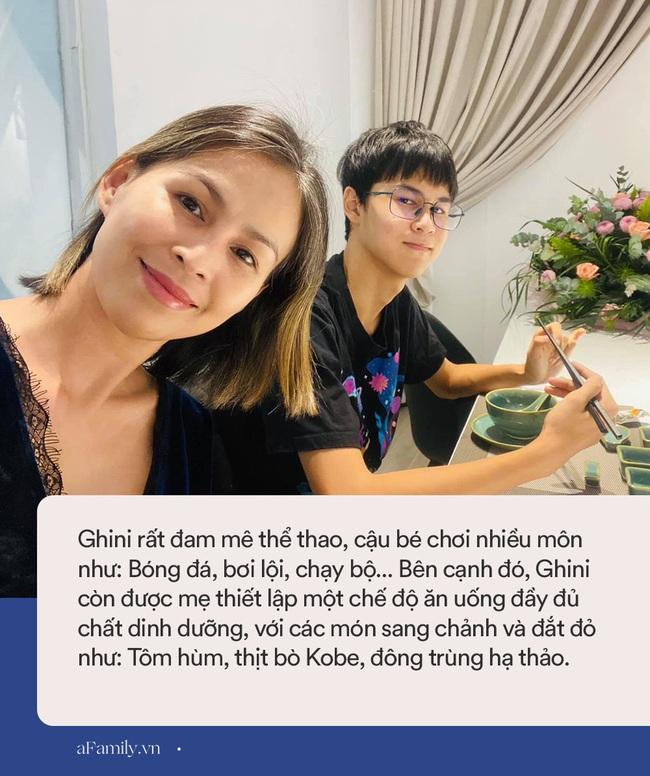 15 tuổi cao 1m80, con trai diễn viên Huy Khánh chơi chục môn thể thao nhưng nhìn chế độ dinh dưỡng mới khủng - Ảnh 8.
