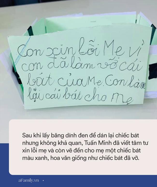 """Làm vỡ chiếc bát mẹ thích nhất, cậu bé nức nở viết tâm thư xin lỗi nhưng nhìn cách """"khắc phục hậu quả"""" thì ai cũng cười bò - Ảnh 6."""
