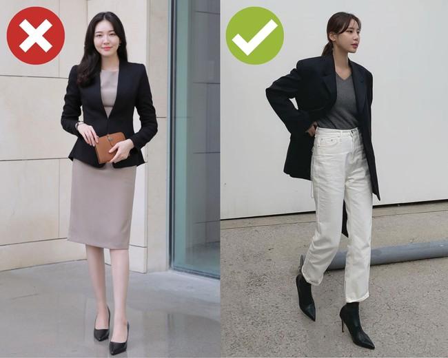 4 kiểu trang phục mùa lạnh dễ cộng cho nàng công sở 5 – 7 tuổi, không muốn trông già xọm thì né ngay