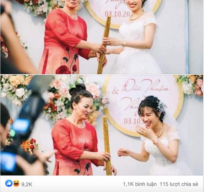Ngay trên sân khấu hôn lễ, mẹ chồng trao cho con dâu cây chổi quét nhà và lời tiết lộ bất ngờ từ chính chú rể - Ảnh 1.
