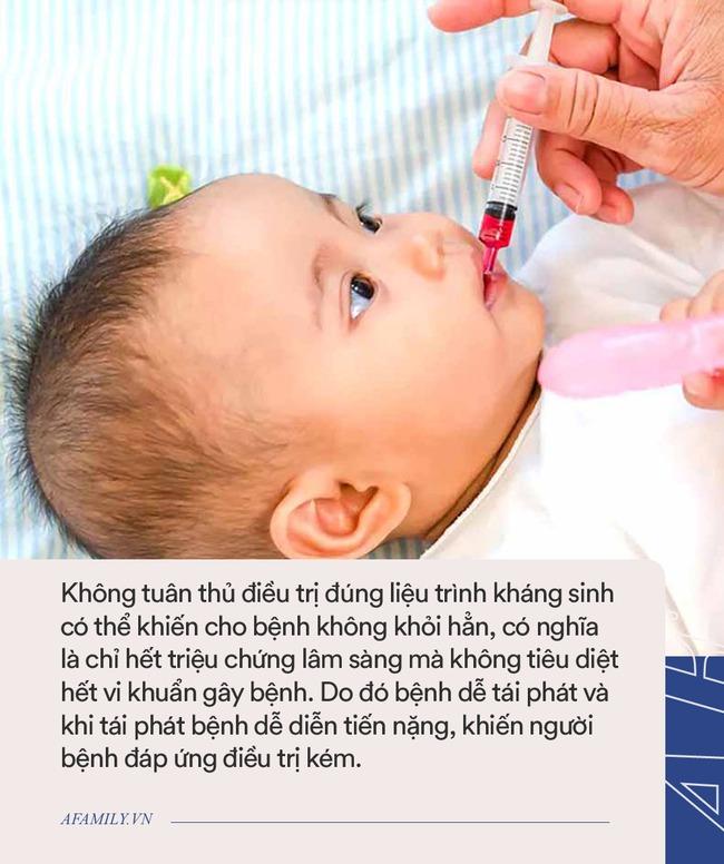Bên cạnh việc lạm dụng thuốc, thêm 1 sai lầm khi cho con uống kháng sinh nhiều cha mẹ đang mắc phải - Ảnh 3.