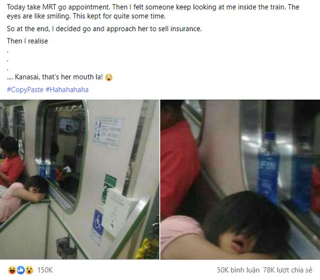 """Bước lên tàu điện ngầm, thanh niên thót tim khi thấy cô gái nhìn mình bằng con mắt cười ghê rợn, tiến lại gần mới nhận ra sự thật """"xấu hổ"""" - Ảnh 1."""