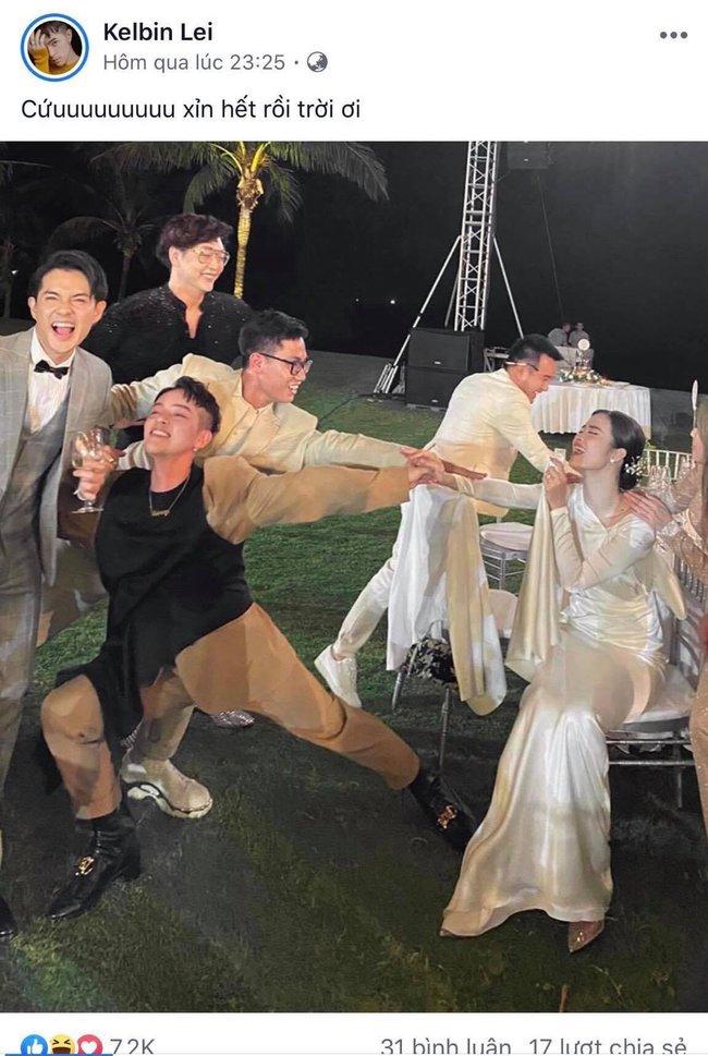 """Đông Nhi tung ảnh dìm hàng cả showbiz trong hôn lễ thế kỷ: Noo Phước Thịnh mặt mũi lem nhem vì khóc, Minh Hằng mất sạch hình tượng nhưng """"trùm cuối"""" lại là cô dâu - Ảnh 10."""