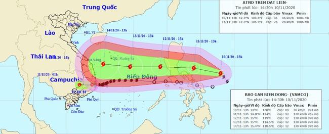 """Sau siêu bão Goni, biển Đông chuẩn bị đón Bão """"Vàm Cỏ"""" giật cấp 16, có thể ảnh hưởng trực tiếp đến Trung Bộ vào cuối tuần - Ảnh 1."""