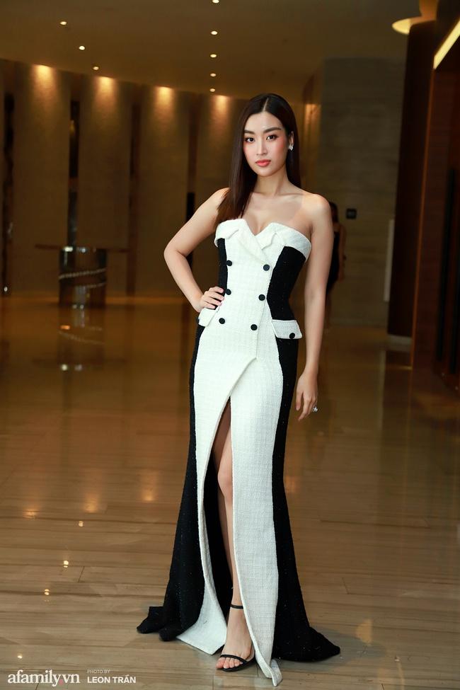 Dàn hậu váy áo lộng lẫy, khoe sắc trong họp báo Chung kết toàn quốc Hoa Hậu Việt Nam 2020 - Ảnh 6.