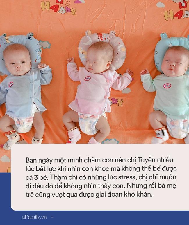 Mẹ trẻ mang thai 3 bụng rạn rướm máu ai nhìn cũng xót, sinh xong một mình chăm 3 bé nhiều lúc stress không muốn nhìn mặt con - Ảnh 6.