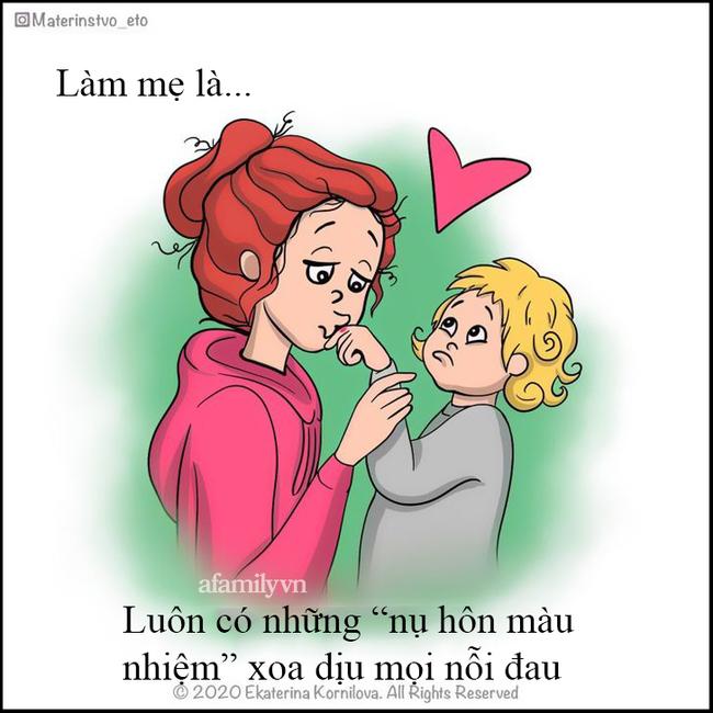 """""""Làm mẹ là..."""" - bộ tranh định nghĩa về nghề làm mẹ chân thật đến mức ai cũng tìm thấy mình trong đó - Ảnh 4."""