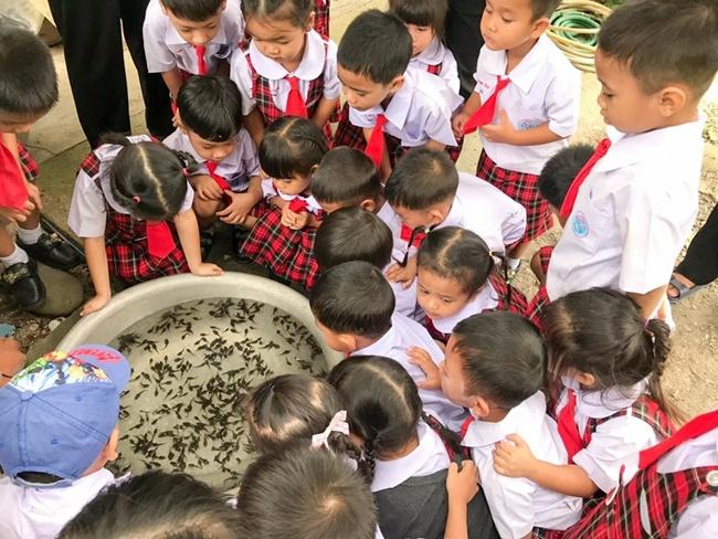 Để học sinh hiểu về ếch, cô giáo cho các em sờ tận tay nhưng bức ảnh cuối tiết lộ kết đắng của loài lưỡng cư khiến ai cũng bật cười - Ảnh 2.