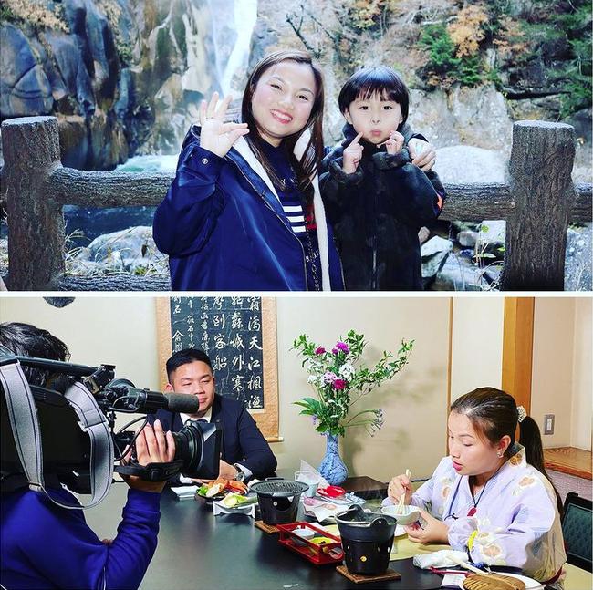"""Hot mom Quỳnh Trần JP vinh dự được mời trải nghiệm ẩm thực trên truyền hình Nhật Bản, nhóc Sa cũng hớn hở """"đi ké"""" - Ảnh 1."""