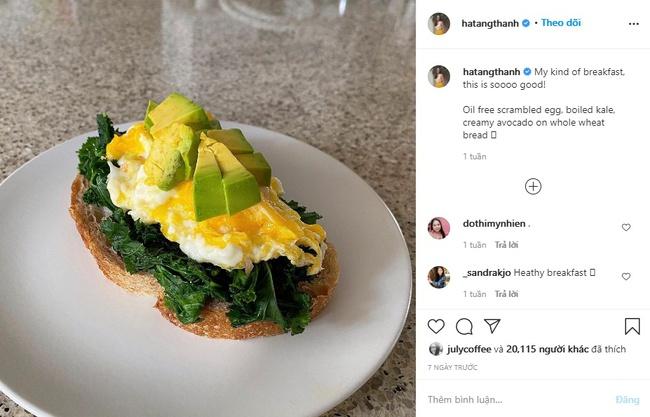 Ăn sáng healthy như Hà Tăng - Ảnh 1.