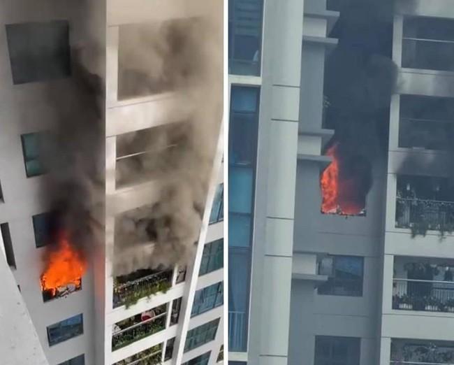 Hà Nội: Cháy lớn tại căn hộ chung cư Goldmark City, nhiều người dân hốt hoảng ôm con nhỏ tháo chạy  - Ảnh 1.