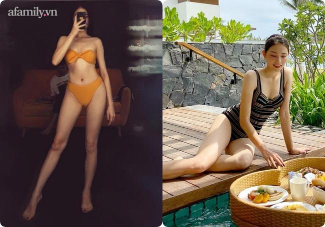 """Trước giờ vẫn khoe dáng với bikini, từ ngày yêu thiếu gia nhà hào môn, đến đồ bơi Linh Rin cũng kín bưng không hở """"khúc"""" nào - Ảnh 1."""