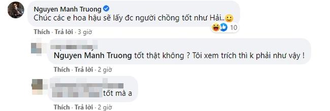"""""""Hồ sơ cá sấu"""" hoãn chiếu vì Hoa hậu Việt Nam, Mạnh Trường chúc thí sinh... lấy được chồng tốt như Hải - Ảnh 2."""