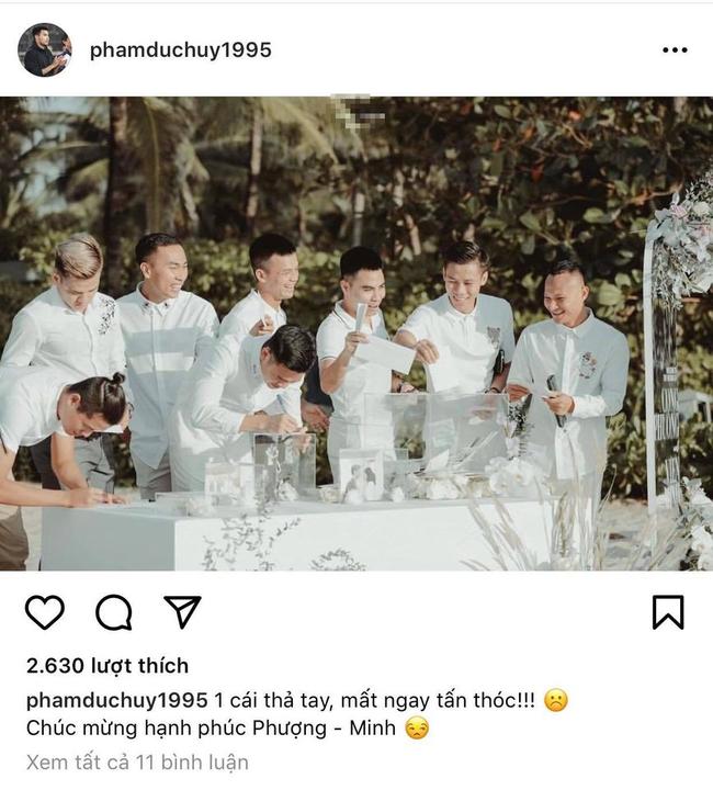Dàn cầu thủ lần lượt đăng ảnh chính thức trong đám cưới Công Phượng, đáng chú ý Đức Huy còn tiết lộ cả tiền mừng cưới - Ảnh 4.