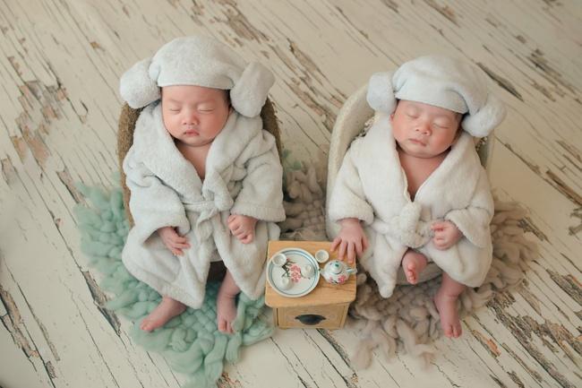 Ngắm trọn bộ ảnh đáng yêu của cặp song sinh nhà Dương Khắc Linh - Sara Lưu - Ảnh 7.