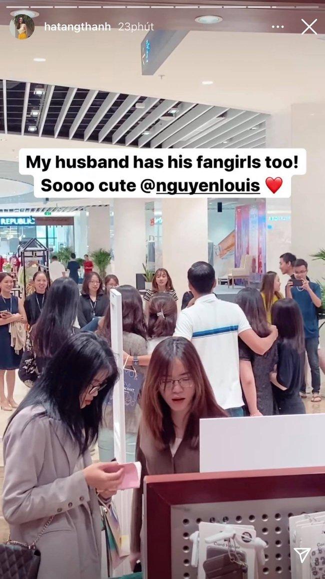 Phát hiện chồng được nhiều cô gái vây quanh, đây là phản ứng của Tăng Thanh Hà - Ảnh 2.