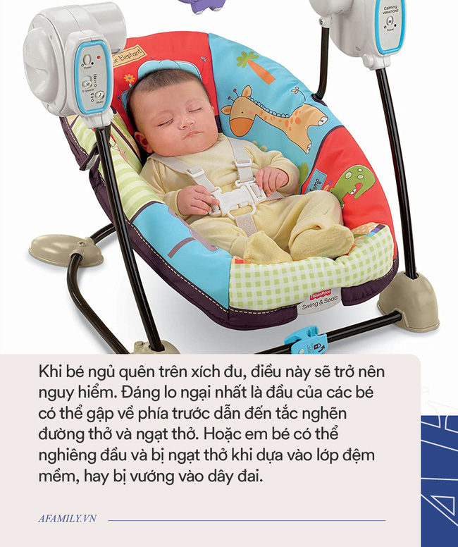 Khổ sở vì con cứ đòi bế trên tay mới ngủ, bà mẹ dùng ghế xích đu để ru con, nhưng các chuyên gia lại khuyên không nên làm thế - Ảnh 2.