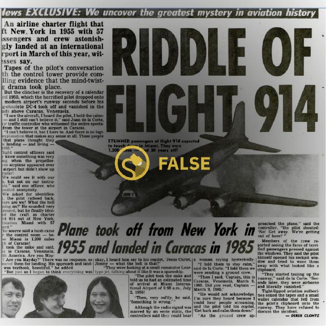 Bí ẩn chuyến bay định mệnh chở theo 57 hành khách đột ngột mất tích trên không trung rồi lại xuất hiện đáp đất gần 40 năm sau - Ảnh 1.