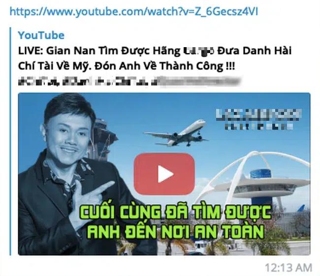 """Dân mạng """"lùng sục info"""" YouTuber tự nhận là người nhà, đến sân bay quay lại hồ sơ thân nhân cố nghệ sĩ Chí Tài  - Ảnh 4."""