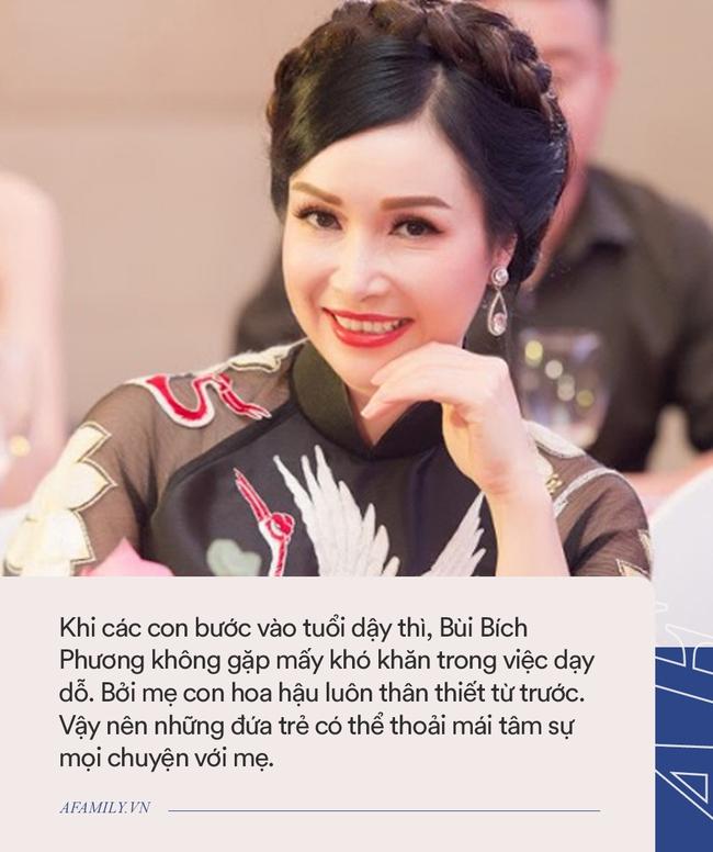 Hoa hậu Bùi Bích Phương: Ngày đăng quang được tặng chiếc xe đạp, giờ là doanh nhân giàu có, cách dạy con cực khác biệt - Ảnh 6.