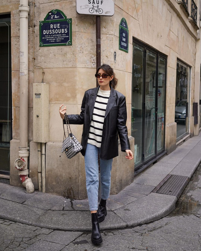 Xem gái Tây diện quần jeans mà thấy được mở mang tầm mắt: 13 cách mặc siêu thanh lịch, xịn đẹp và tôn dáng tối đa - Ảnh 8.
