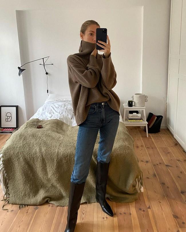 Xem gái Tây diện quần jeans mà thấy được mở mang tầm mắt: 13 cách mặc siêu thanh lịch, xịn đẹp và tôn dáng tối đa - Ảnh 10.
