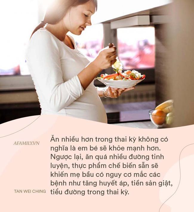 Vì quan niệm ăn cho hai người, một bà mẹ đã tăng 45kg khi mang thai - Ảnh 2.
