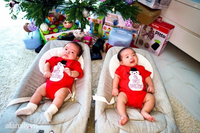 Gia đình Dương Khắc Linh - Sara Lưu háo hức đón Giáng sinh thật đặc biệt bên cặp song sinh đáng yêu - Ảnh 7.
