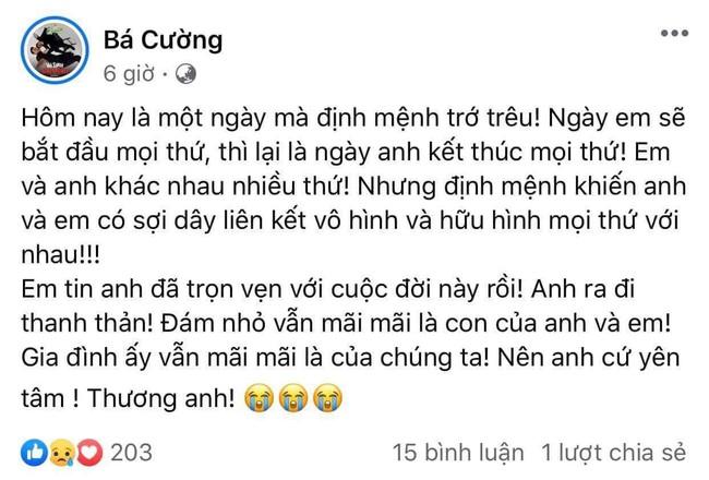 Chồng của vợ cũ Vân Quang Long có động thái bất ngờ khi nam ca sĩ qua đời - Ảnh 2.