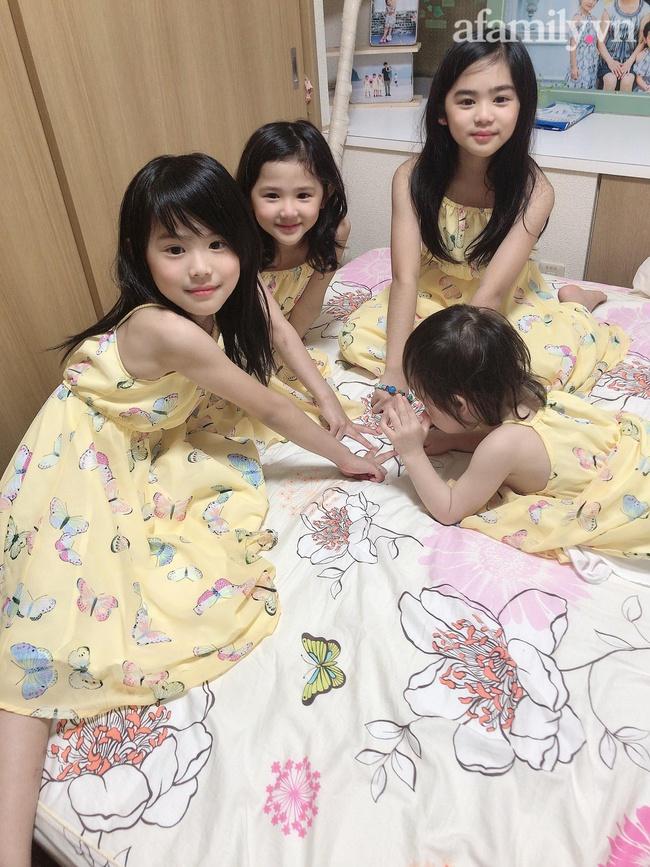 """Mẹ Việt 10 năm sinh 4 con gái, nhìn gương mặt của các bé nhiều người tấm tắc: """"Nhà máy sản xuất hot girl là đây"""" - Ảnh 1."""