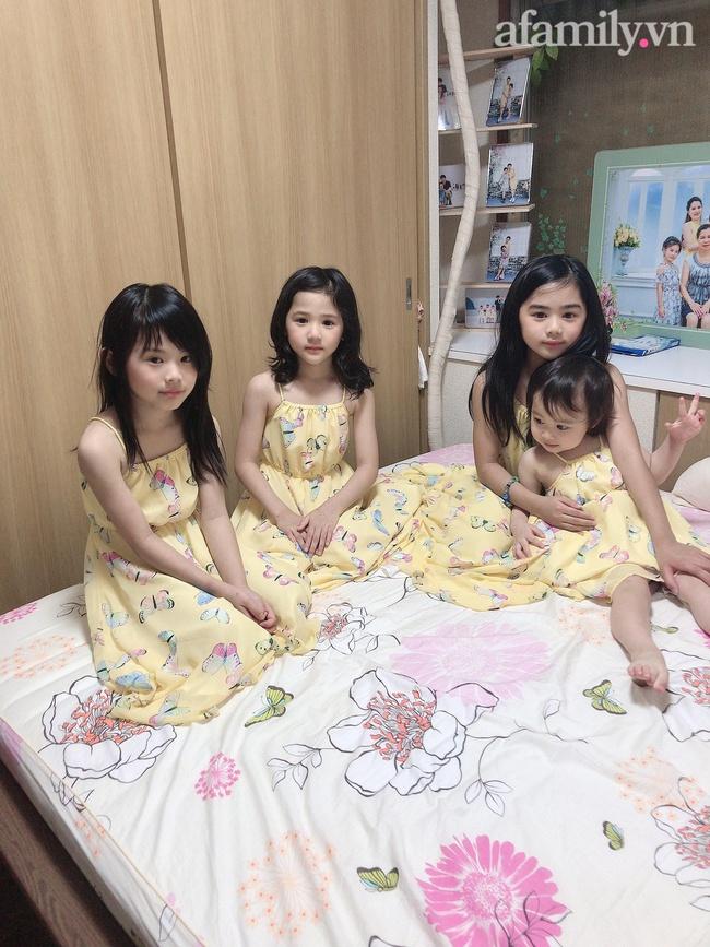 """Mẹ Việt 10 năm sinh 4 con gái, nhìn gương mặt của các bé nhiều người tấm tắc: """"Nhà máy sản xuất hot girl là đây"""" - Ảnh 2."""