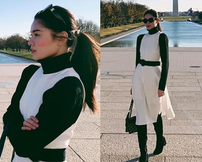 Á hậu Thùy Dung có bao ý tưởng diện váy đẹp xinh và thanh lịch thế này, chị em không tham khảo thì quá phí - Ảnh 5.