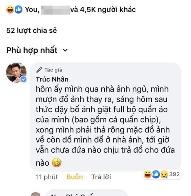 Trúc Nhân lên tiếng lý giải về 'sự tích' chiếc quần short bỏ quên tại nhà Jun Phạm bị đồng nghiệp đem rao bán trên mạng - Ảnh 2.